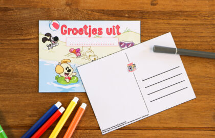 Woezel & Pip DIY ansichtkaarten