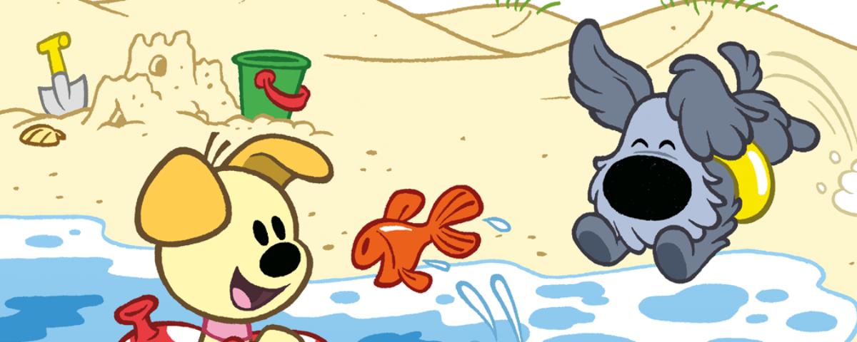 Woezel & Pip op het strand