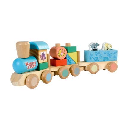 Woezel & Pip houten trein